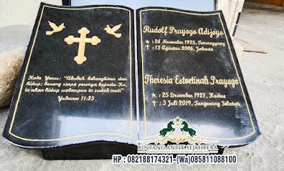 Nisan Buku Jumbo Bahan Granit, Batu Nisan Granit