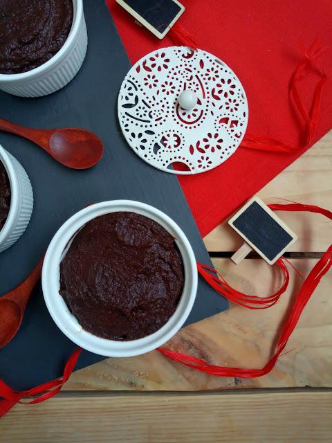 Mousse de calabaza y chocolate. Receta fit, saludable, fitness, vegana, sencilla, rápida, fácil, sin horno, postre, verano, otoño, cuca