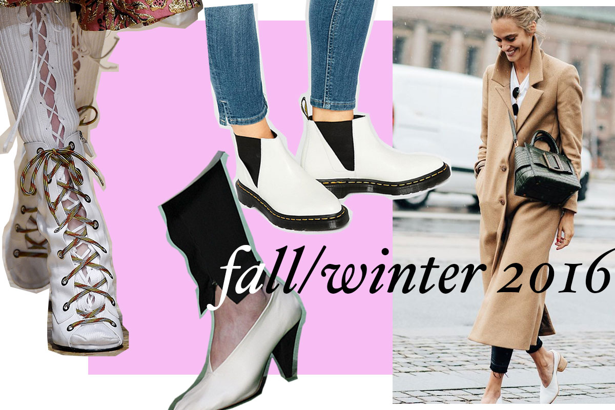 trend watch white shoes for fall/winter