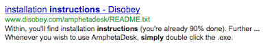 Google screen snapshot reading, Whenever you wish to use AmphetaDesk, simply double click the .exe…