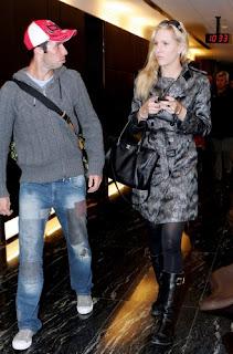 Nicole with her first boyfriend