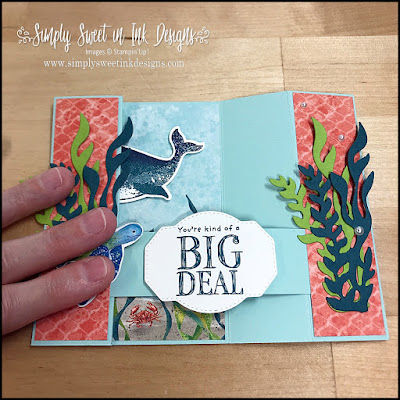 stampin up whale done fun fold card