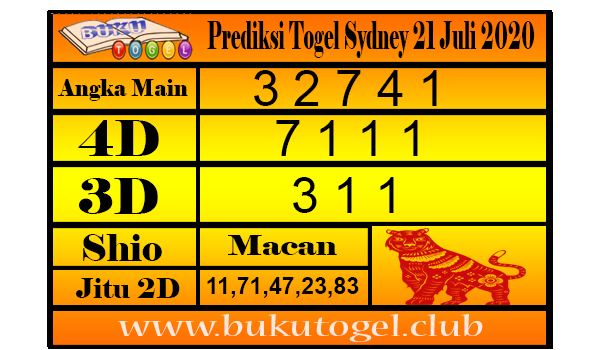 Prediksi Syair Togel Sydney 21 Juli 2020