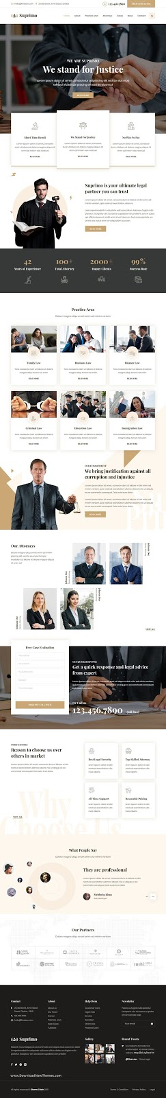 Lawyer Attorney Website Responsive Template