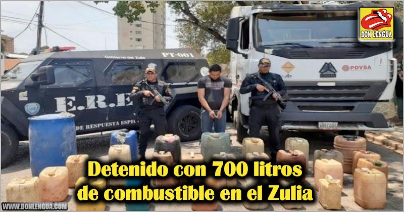 Detenido con 700 litros de combustible en el Zulia