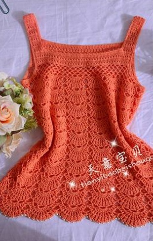 Elegant crochet blouse with free graphic