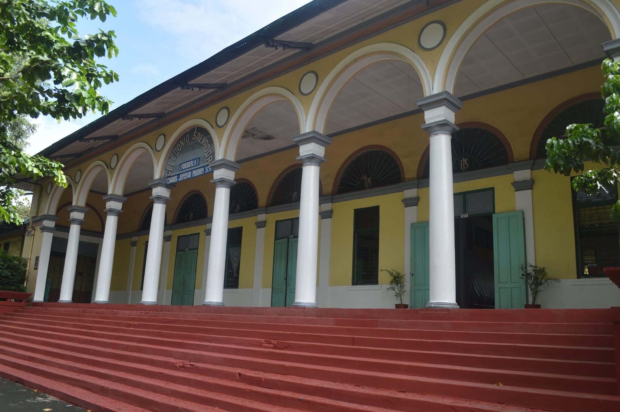 front façade of the Gabaldon school building of Dr. Celedonio A. Salvador Elementary School