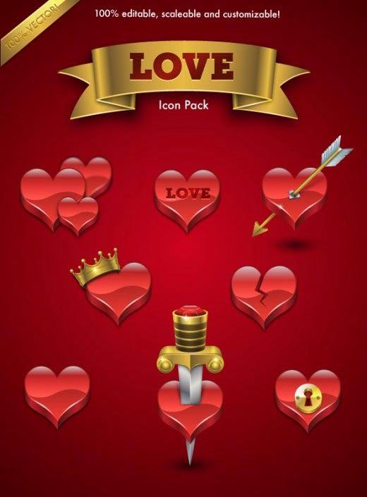 8 Love Icon Set