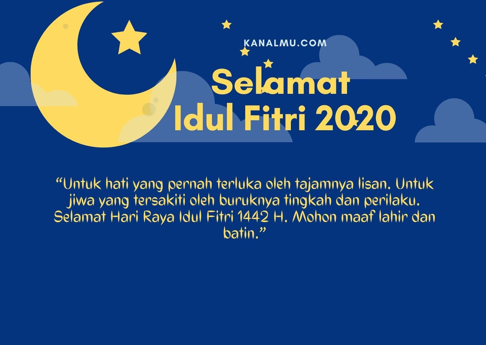 Gambar : Kartu Ucapan Kata- Kata Idul Fitri 2020 Tahun 1442 H