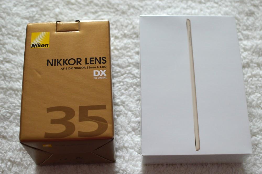 Nikon 35mm lens & iPad mini