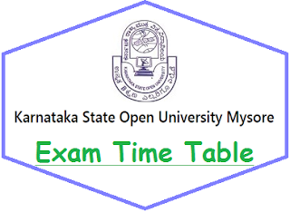 KSOU Mysore Time Table 2021