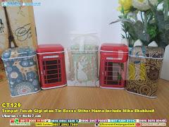 Tempat Tusuk Gigi Atau Tin Boxes Stiker Nama Include Mika Eksklusif