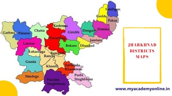 District of Jharkhand Map