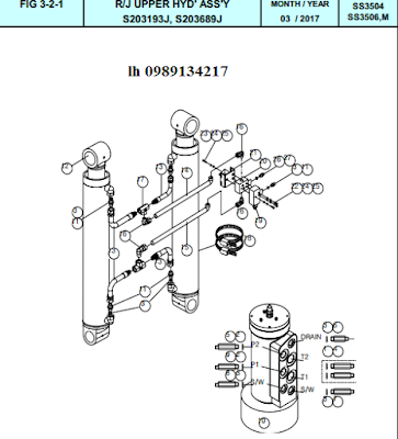 Xy lanh nâng cần Dong Yang 15 tấn SS3504-SS3506-SS3506M