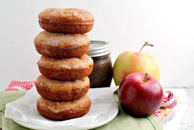 These perfect for fall Cinnamon-Sugar Apple Butter Donuts are packed with the flavors of fresh apple & spiced apple butter.