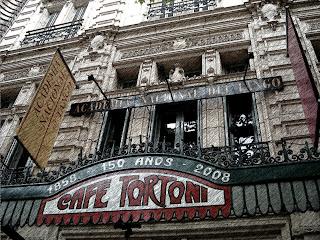 Letreiro na Fachada do Café Tortoni, Buenos Aires