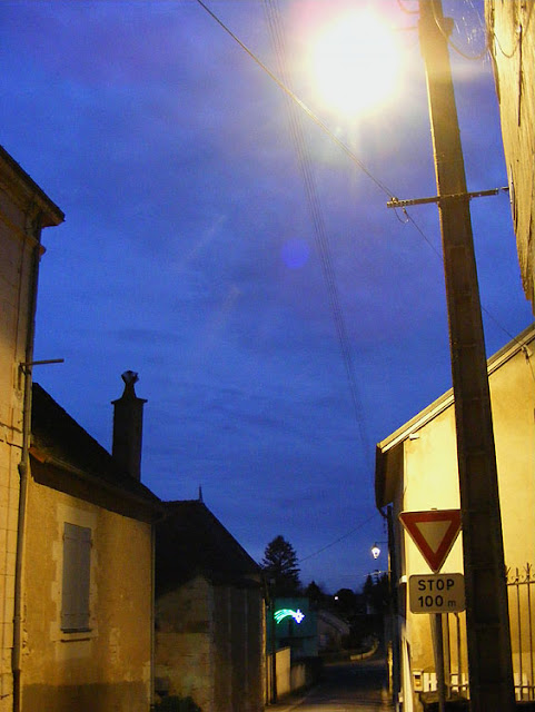 Preuilly sur Claise installed new low energy street lighting at the end of 2018. Photo taken by Susan @ https://tourtheloire.com