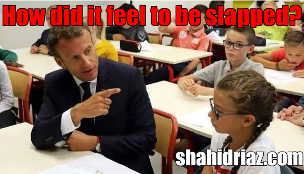 How did it feel to be slapped? The girl's innocent question to the French president
