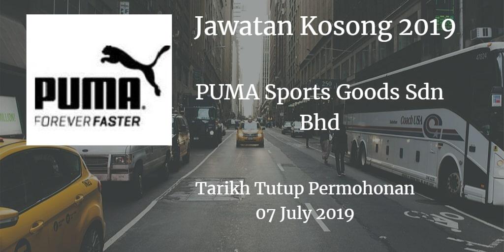 Jawatan Kosong PUMA Sports Goods Sdn Bhd 07 July 2019