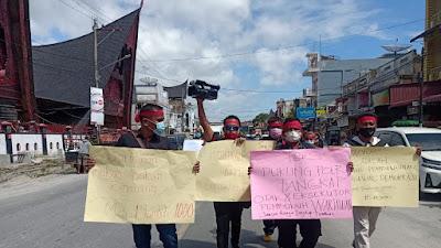 Wartawan Toba Aksi Solidaritas, Minta Pembunuh Marshal Harahap Ditangkap dan Dihukum Mati
