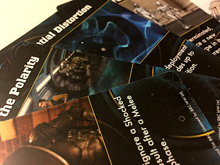 A selection of adventure cards from Doctor Who: Exterminate!