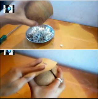Kerajinan Celengan Dari Batok Kelapa Yang Mudah Dibuat