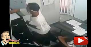 Cámaras captaron a un ladrón robando en los Palos Grandes