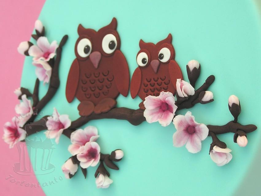 Motivtorte cherry blossom gumpaste fondant cake