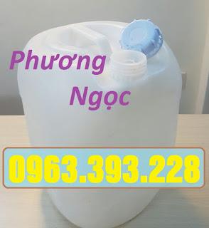 Can nhựa 20L vuông tròn, can nhựa đựng hóa chất, can màu trắng 20L