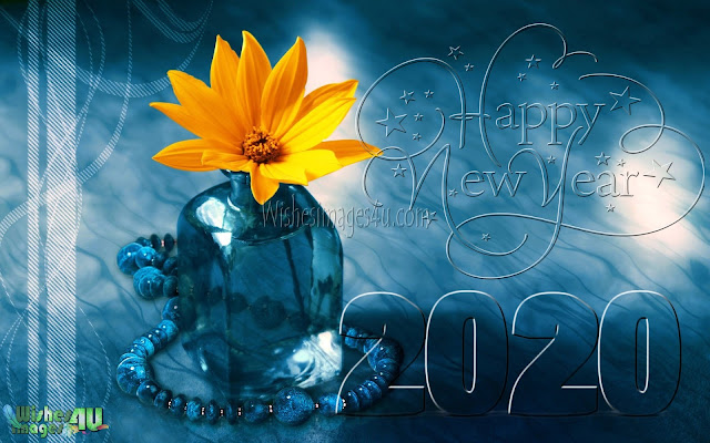 New Year 2020 3D Graphics Background