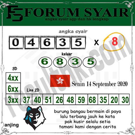 Forum Syair HK Senin 14 September 2020