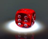 Red six-sided die