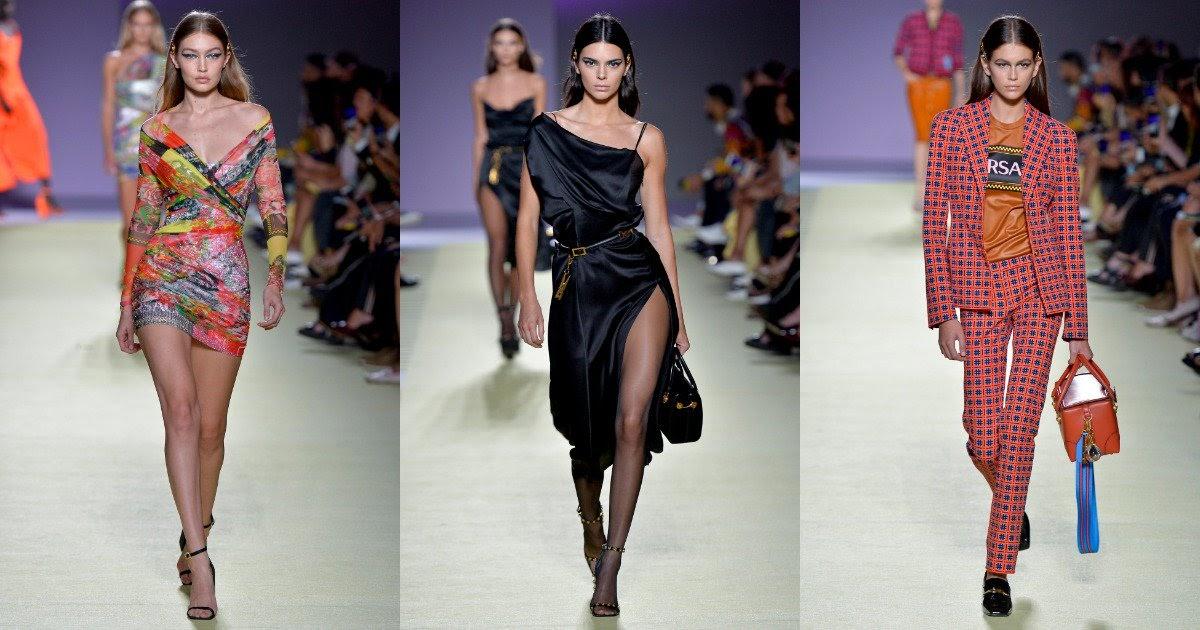 Top models take the Versace Milan Fashion Week SS19 Show ...