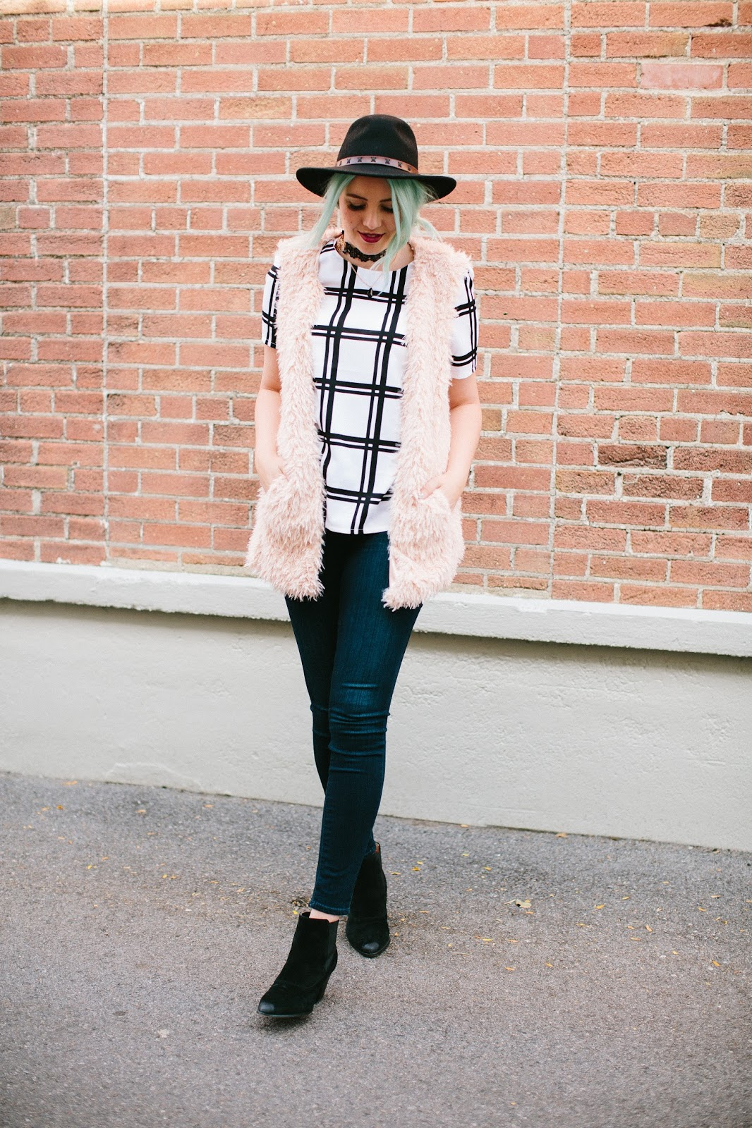 Pink Vest, Paige Denim, Fall Look