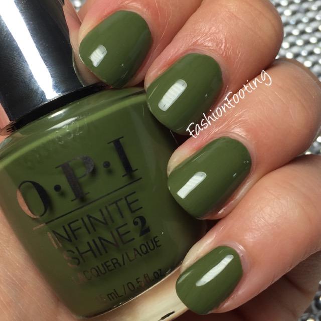 Opi Infinite Shine Olive For Green Week Long Wear Free Shipping At Nail Polish Canada