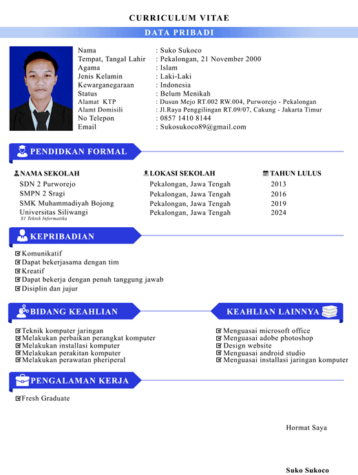 Contoh Cv Yg Menarik Untuk Fresh Graduate Best Resume Examples