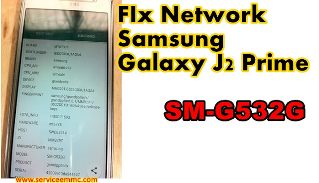 FIx Network Samsung Galaxy J2 Prime SM-G532G