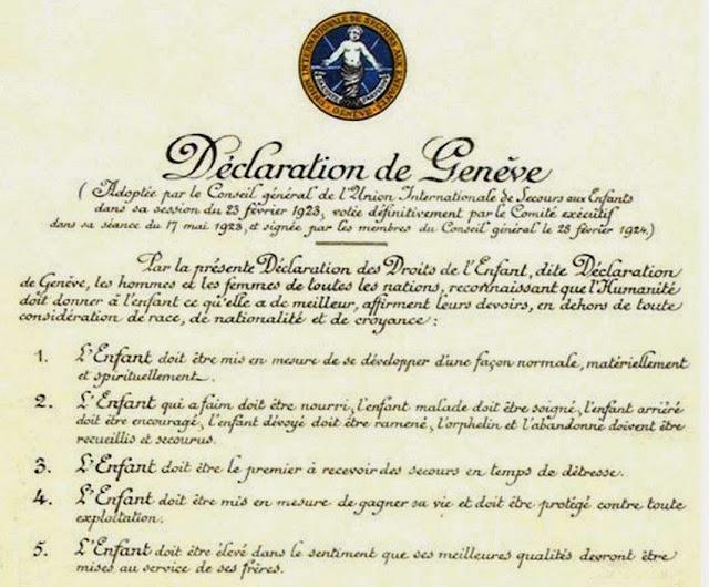 """Résultat de recherche d'images pour """"declaration de geneve 1924"""""""