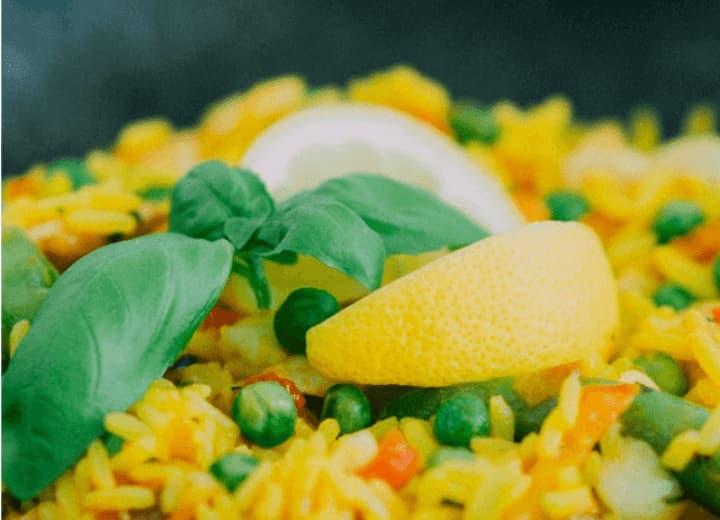 arroz ao suco de laranja
