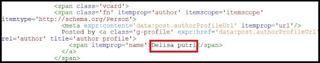 merubah author name