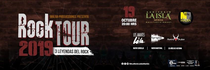 Rock Tour 2019 Tres leyendas del rock