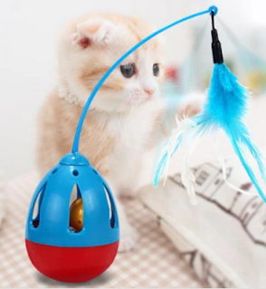 Tumbler Feathers Funny Cat Pet Toy