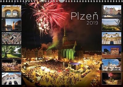 nástěnný kalendář Plzeň jednotlivé listy