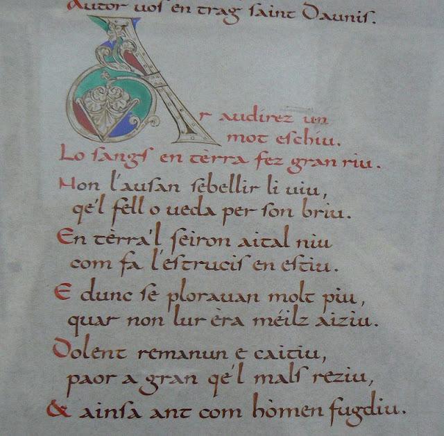Cançó de Santa Fe de Agen escrita hacia 1040-1060.