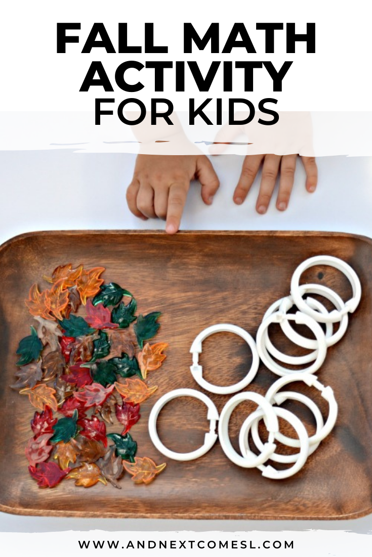 Looking for fall math activities for toddlers and preschoolers? Try this simple fall math activity tray!