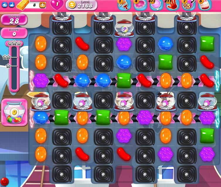 Candy Crush Saga level 2168