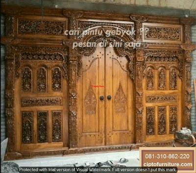 Model Pintu gebyok Ukir Jati jepara Murah