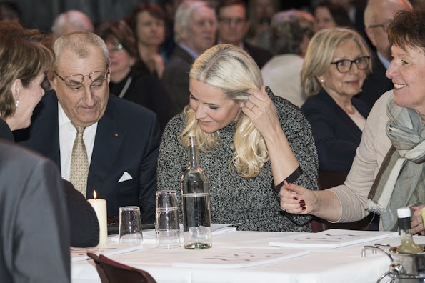 Crown Princess Mette-Marit of Norway attended introduction program of Risor Chamber Music Festival at Oslo Sentralen concert hall
