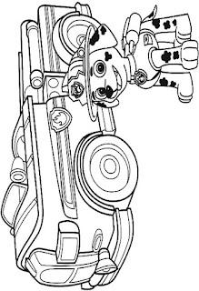 Desenho da patrulha canina para colorir