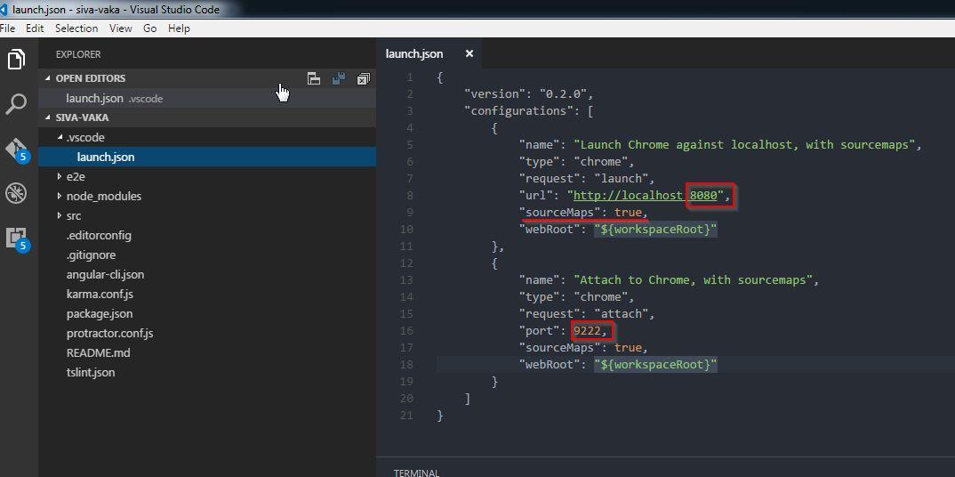 Siva R Vaka: Debugging Angular 2 application in Visual